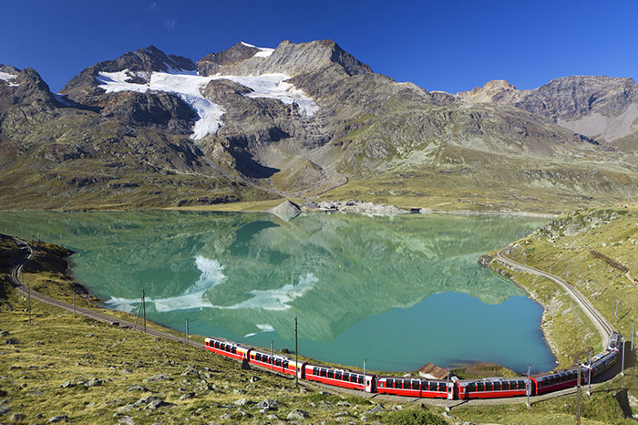 The famous Bernina Express in Switzerland