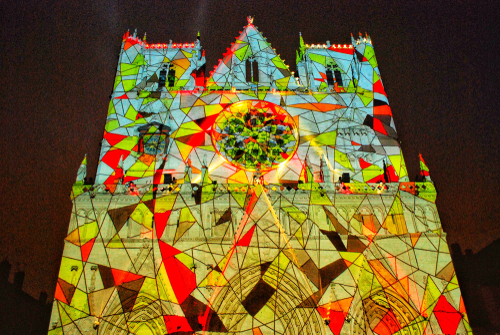 Saint-jean Cathedral, Festival of Lights | Lyon, France