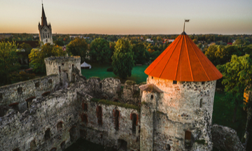 Cesis Castle from above