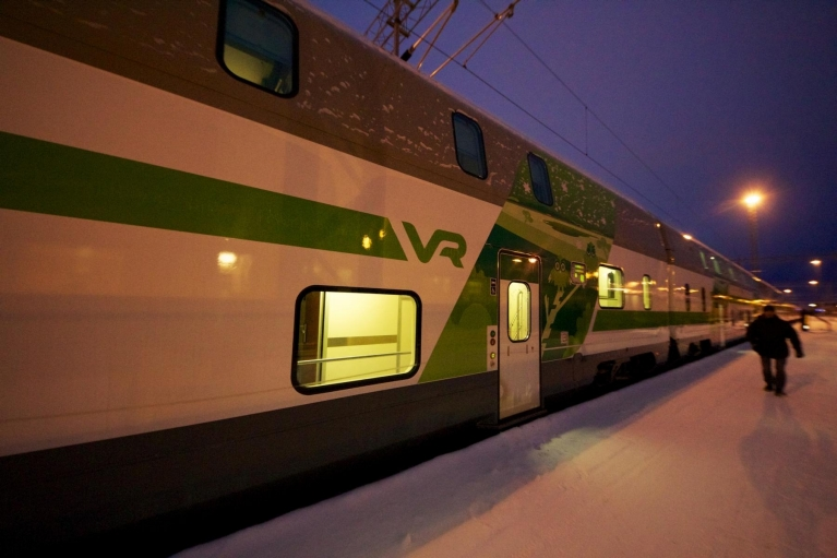 Finnish double-decker night train