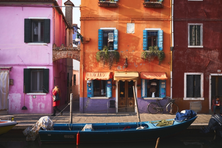 Colourful houses in Venice