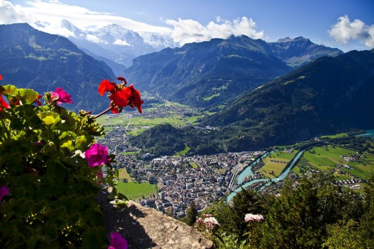 Aerial view of Interlaken