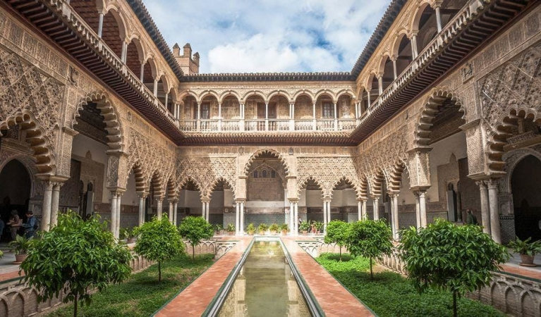 Patio in the Alcazar of Seville