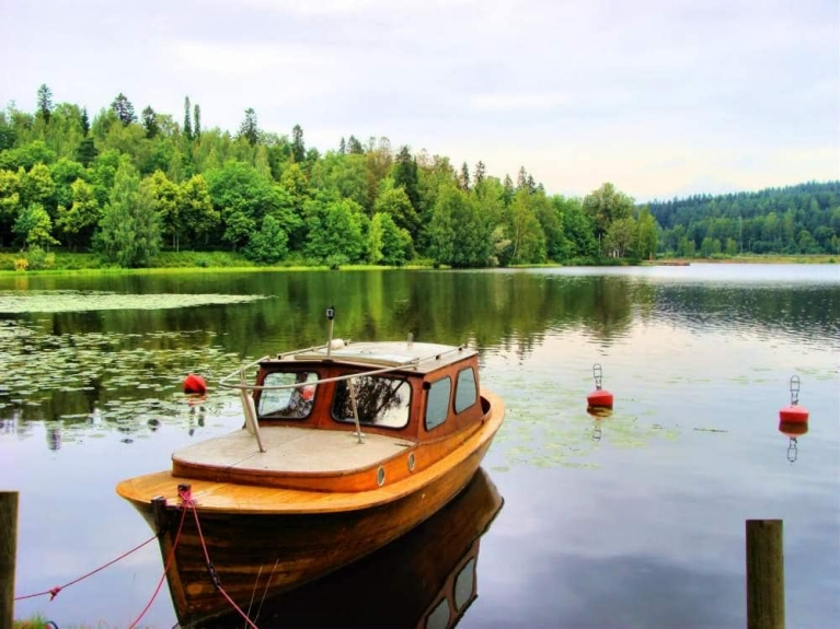 Boat on Finnish lake