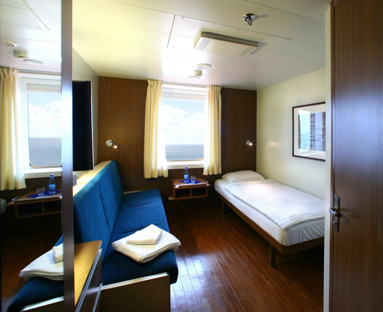 Cabin on board of Finnlines ferry