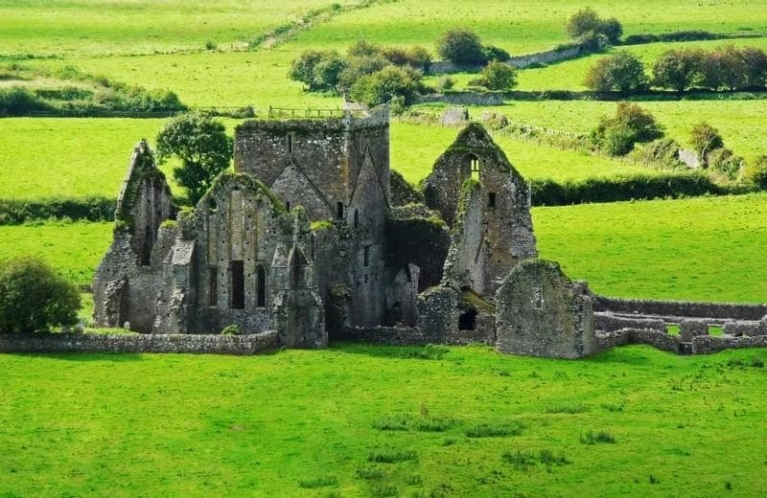 Ancient ruins of a castle, Ireland