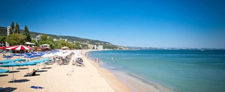 Panoramic view on Varna beach