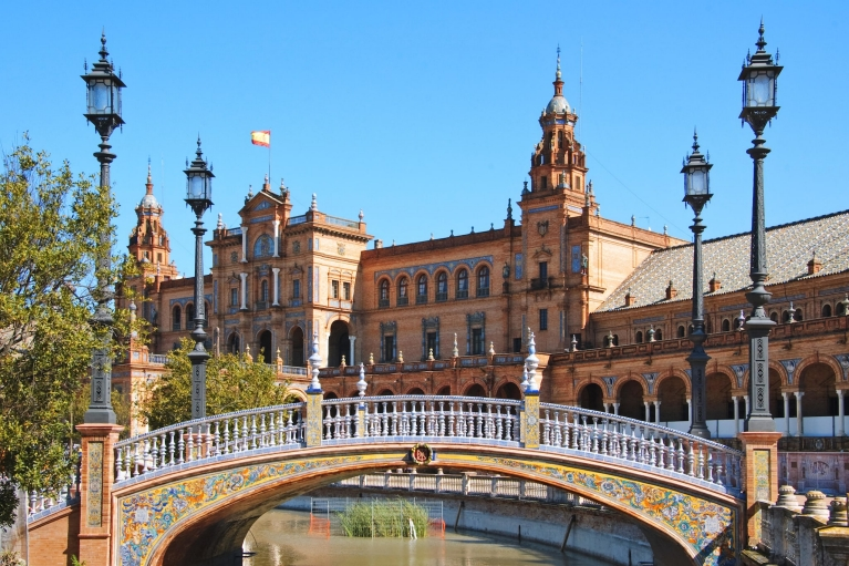 Plaza de España, in Seville, Spain
