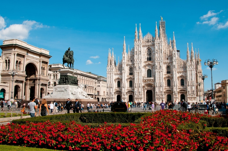 The Cathedral Square in Milan