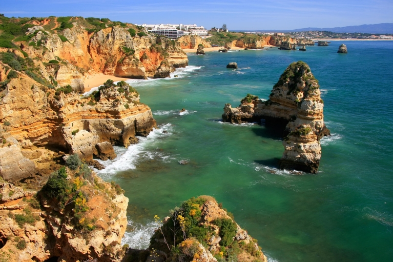 View of the cliffs and beaches from Ponta da Piedade