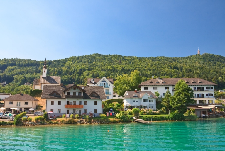 Enjoy the clear waters of Wörthersee, Austria