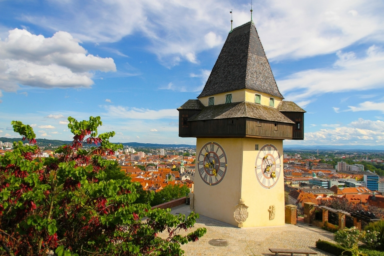 The Clock Tower in Graz, Austria