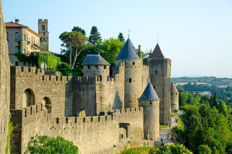 The medieval fortress of Carcassonne