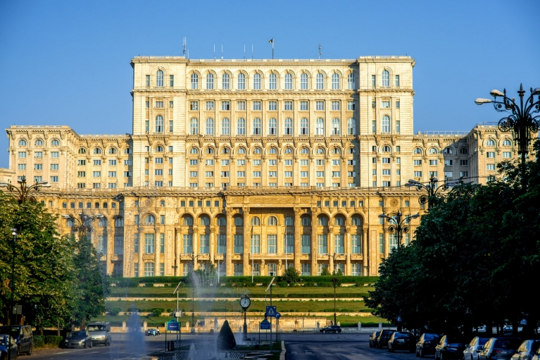 The Parliament Building in Bucharest