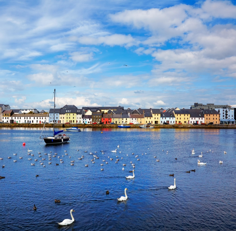 Claddagh Quay, where the River Corrib meets Galway Bay
