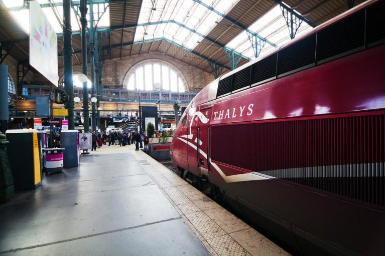 Thalys train at Paris Gare du Nord, France