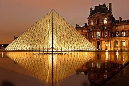 The Louvre Pyramid and the Louvre museum