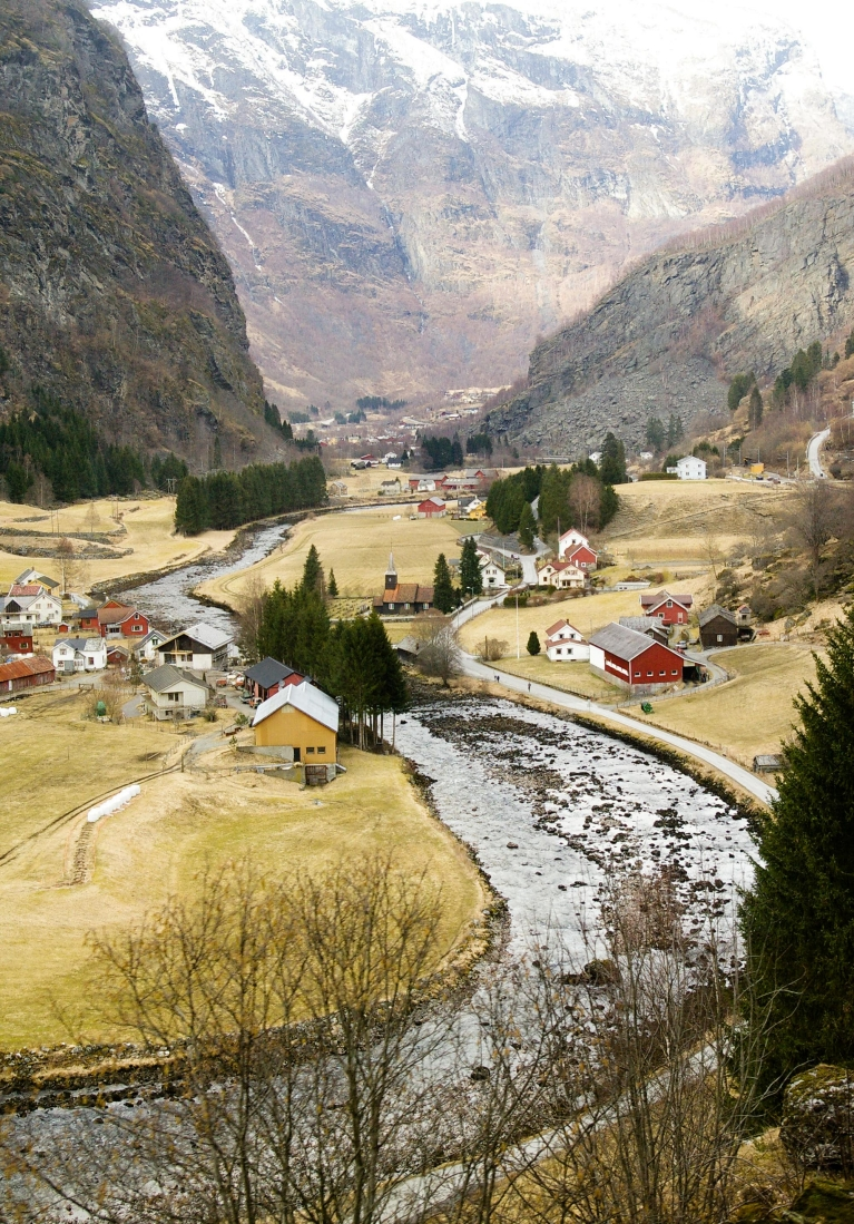View of small village in Flam