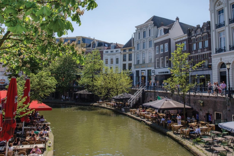 Utrecht's Old Canal in summer