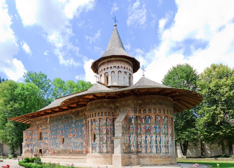 Voroneţ Monestery,  one of the  Painted Monasteries of Bucovina, Romania