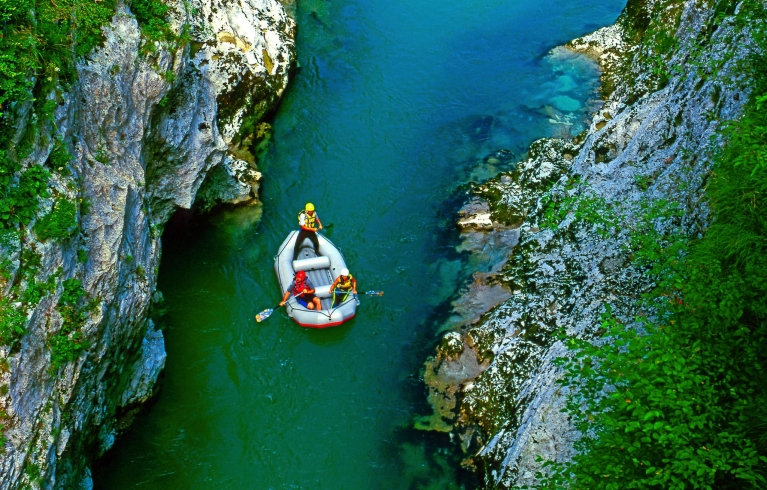 Soca river in Triglav National Park