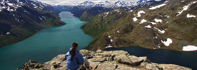 Spectacular view on one of Norway's fjords