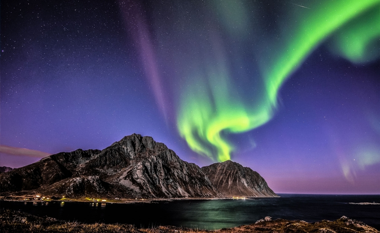 Aurora Borealis over the Lofoten Islands