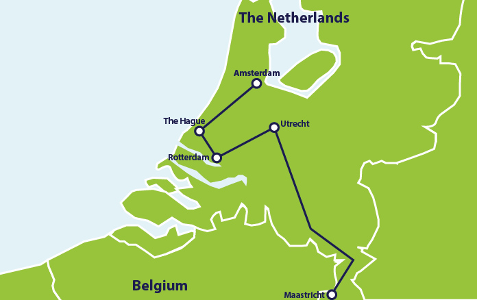 ER Netherlands itinerary map